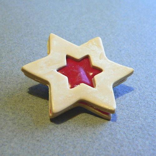 Linecká brož hvězda