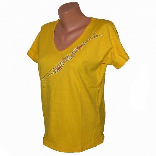 Triko malované - žluté