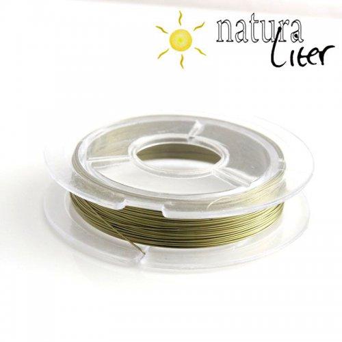 Lakovaný měděný drátek 0,3mm olivový - cívka 10m