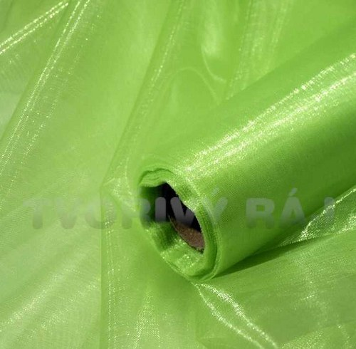Organza, šíře 37cm zelená