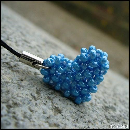 """Perličkové Srdíčko \""""Modré z nebe\"""""""