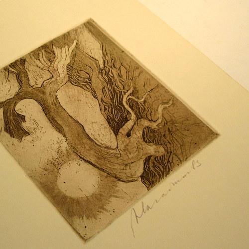 Signovaný grafický list - A. Kačmar  č. 1181