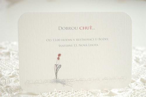 Květy ve dvou - svatební pozvánka