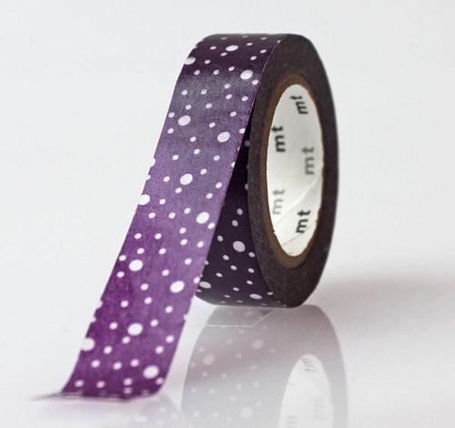 Japonská samolepící páska washi _Arareko fialová