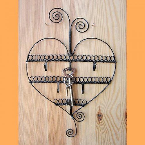 Věšák srdce - spirálky