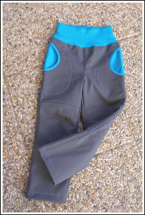 Dětské softshellové kalhoty ZIMNÍ vel:110/116