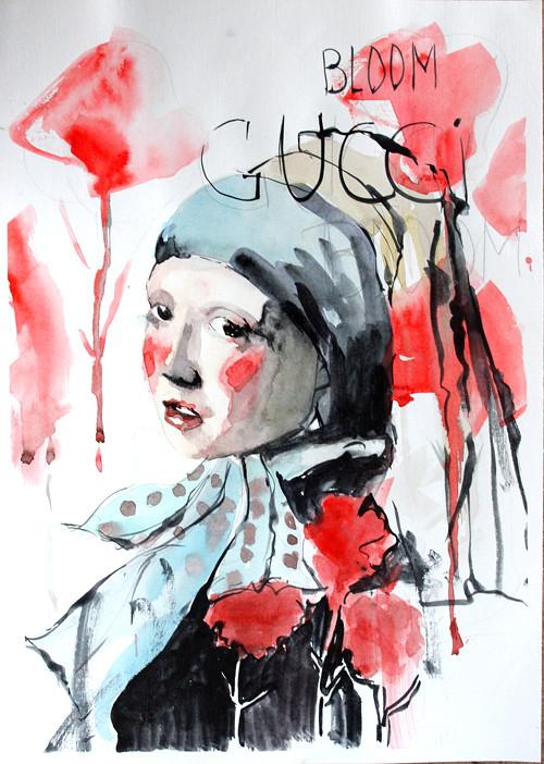 Serie Lide, Fashion portret, Originalni Obraz A3