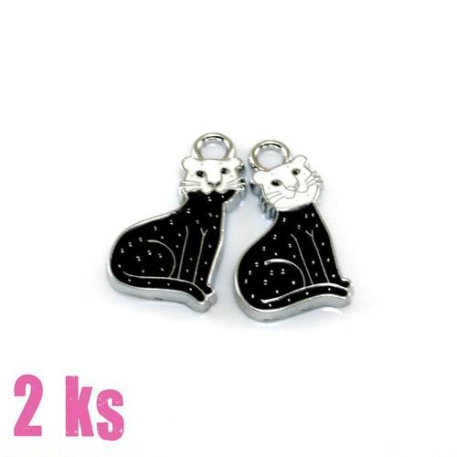 Přívěsky - černobílá kočičí dvojčata