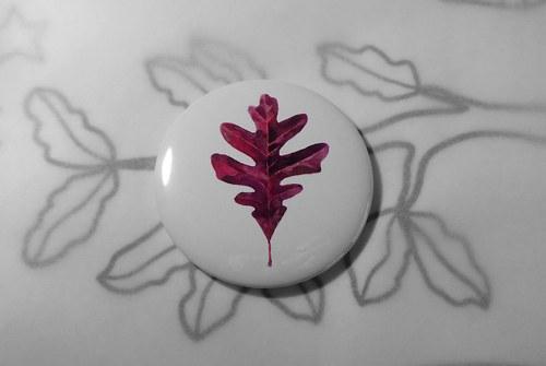 Quercus alba. Magnet 56mm.