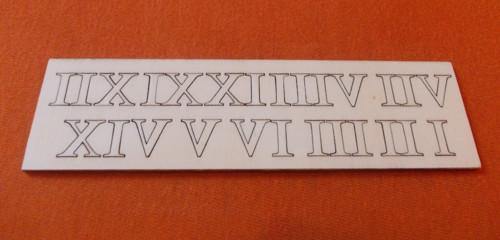 Římské číslice do hodin 15 mm