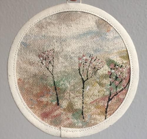 textilní obrázek- krajina