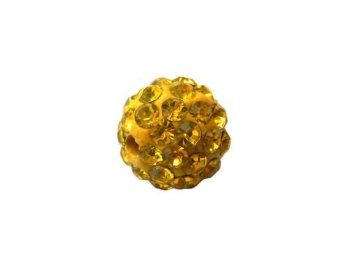 130902 Shamballa korálek - žlutá
