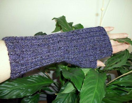 Pletené návleky na ruce-melír
