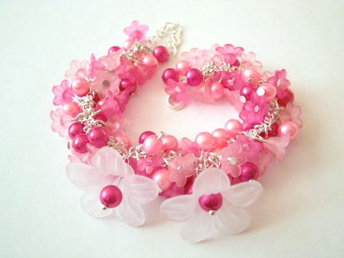 Náramek cinkáček sladký růžový