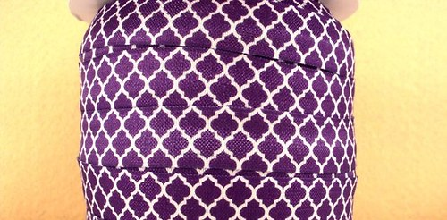 Pruženka/guma š. 16 mm: Tile fialová