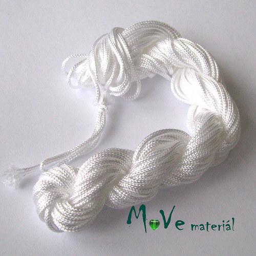Nylonová pletená šňůra - 2mm/1přadeno, bílá