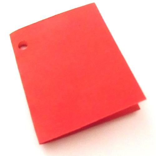 Visačky,  jmenovky pro další tvoření, červené