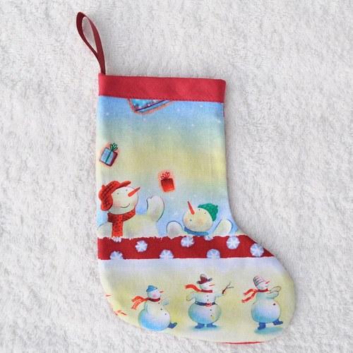 Punčoška - sněhuláci v čepici
