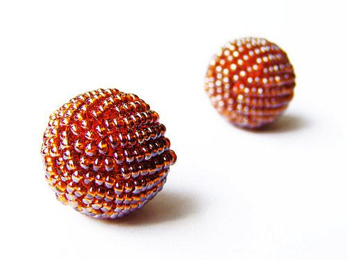 Rocailová kulička rezavě růžová ((KOM27))