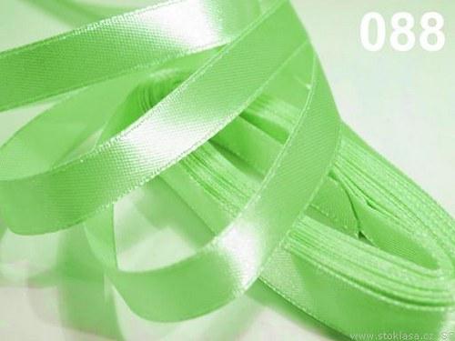 Stuha saténová š.12mm zelenkavá