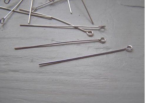ketlovací jehla kovová - stříbrná- 50mm. Bal. 50ks