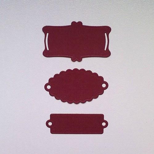 Výsek - Štítky cihlové  3ks