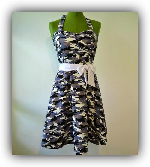 Retro šaty - Maskáčový styl