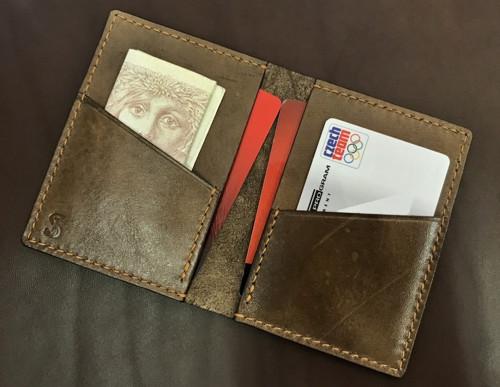 Originální kožená mini peněženka