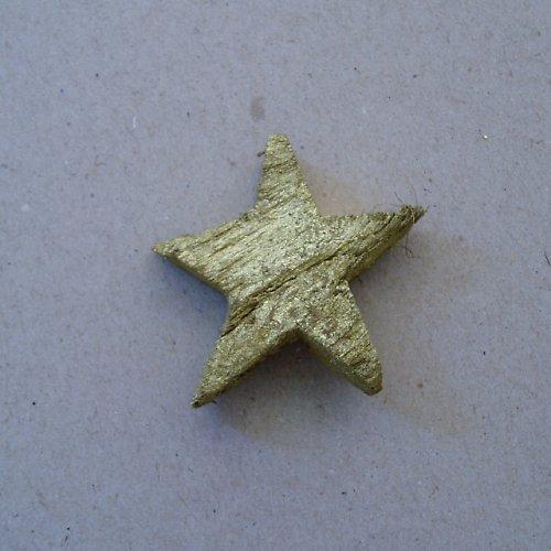 Hvězda kokos - zlato 1 ks