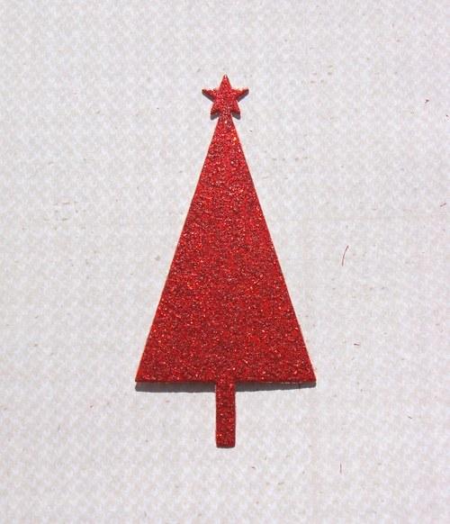 Vánoční stromeček plošný (třpytivý)
