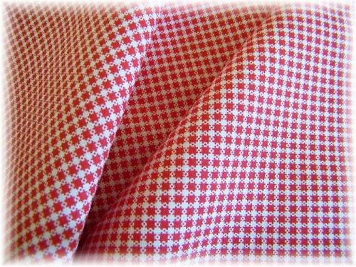 bavlněná látka-červená kostička