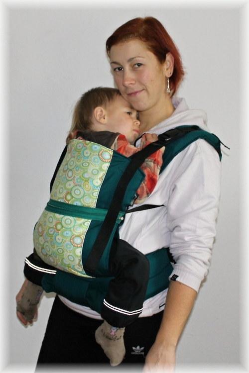 Ergo. nosítko na dítě 0 - 5 let - ZELENÉ KNOFLÍKY
