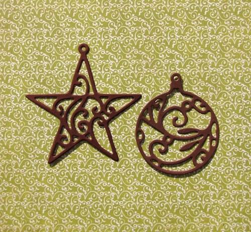 Filigránová hvězda a koule (velké)