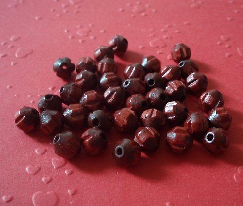 Dřevěné perle - osmihranné