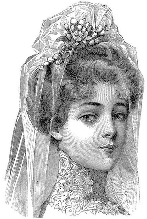 Nažehlovací obrázky - Nevěsta