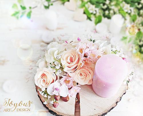 Rustikální květinová dekorace