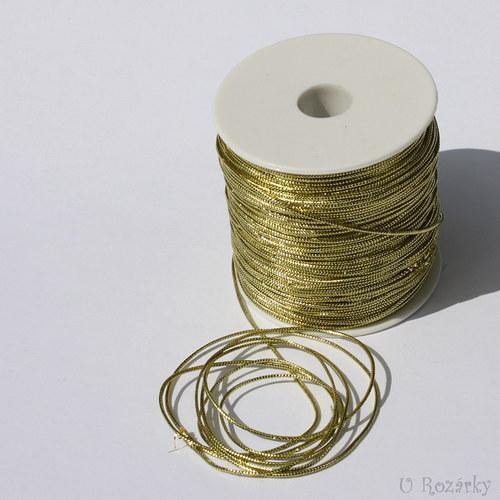 Dutinka s lurexem plochá,zlatá,1mm-cena za 5m!