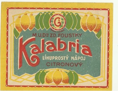 Etiketa Kalabria lihuprostý nápoj citronový