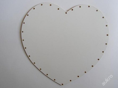 Dno pro pedig  - srdce 20 x 16 - MDF