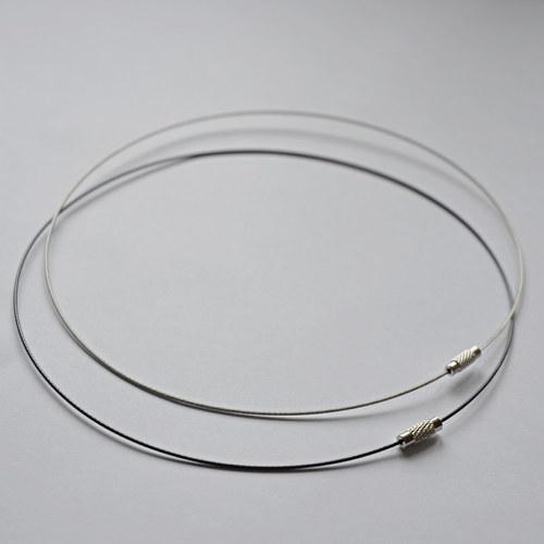 Náhrdelník lanko - neutrální - černá a šedá
