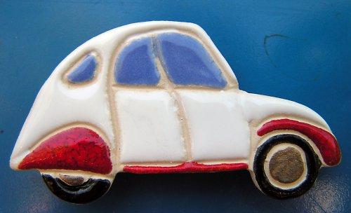 Auto KACHNA - Citroen bíločervený