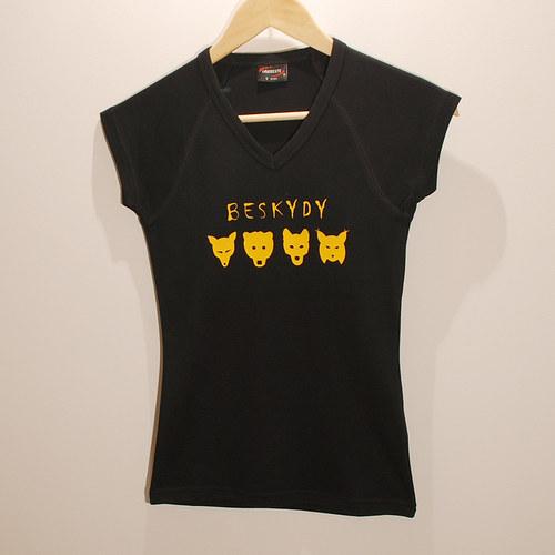 Šelmy - Tričko z Beskyd - dámské ČN XL