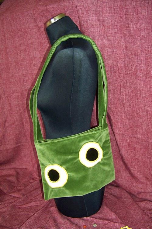 zelenkatá, kruhová, očková a žabičková taška :-)