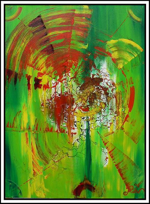 Podzimní vítr-olej na plátně