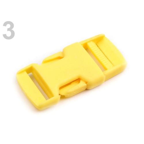 Spona trojzubec š. 25 mm (5sad) - žlutá