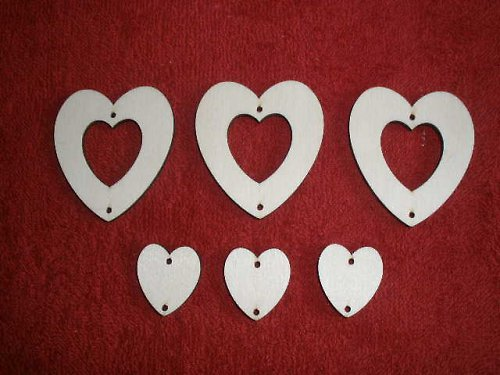 Sada girlanda 6-ti dílná - srdce