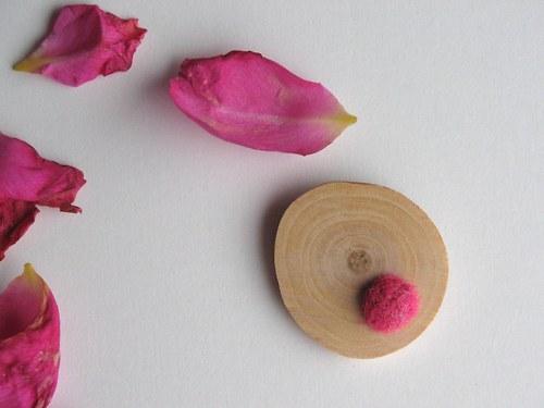 Brož - Vlněnka ... růžová - pura natura