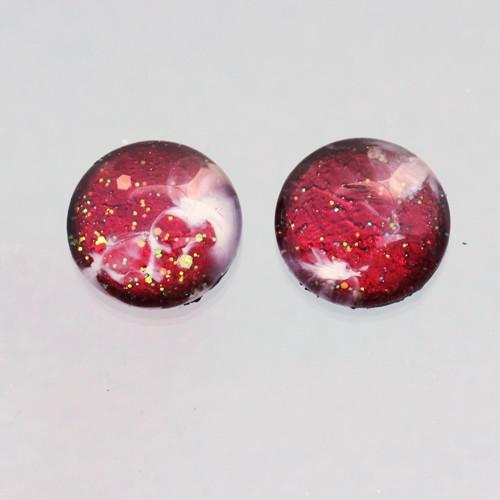 2 kabošony: sklo, 14 mm