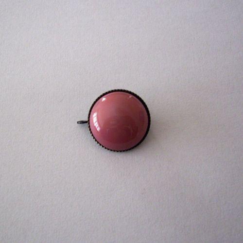 Skleněný kabošon v kotliku 6 direk - růžový opál