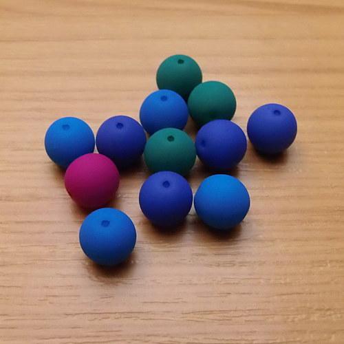 Neonové kuličky 4mm - směs